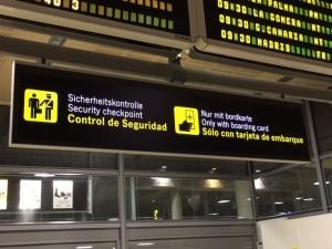 señaletica en el aeropuerto de Tenerife