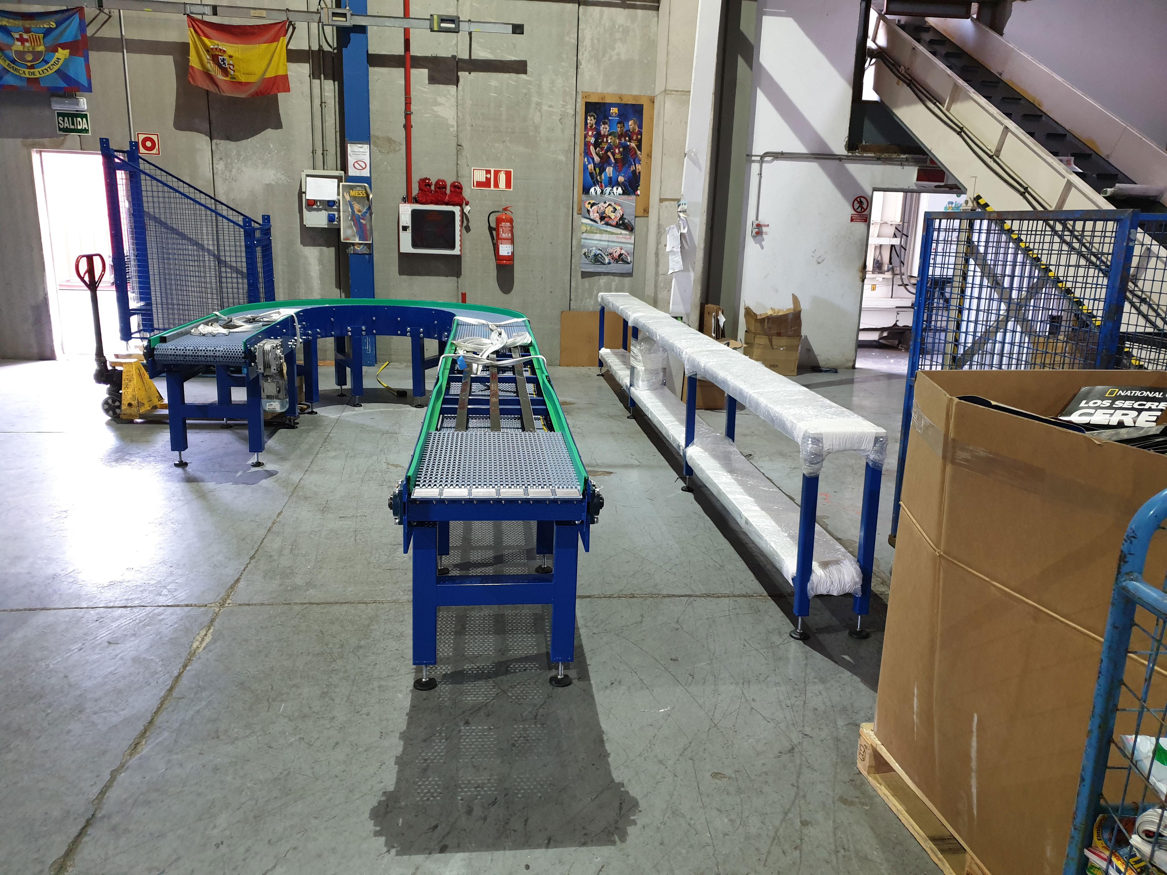 instalación con transportadores ingenut